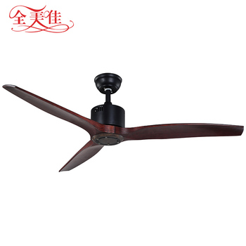 52'' 3 soild wood blades no noise modern decorative remote control ceiling fan