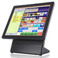 "Touch screen bar pos system for small business with 15"" double screen"