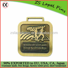Square shape medals witn antique bronze finish