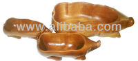 Set of Three Fruit/Nut Bowls Carved in Shape of Wild Boar - Small, Medium and Large
