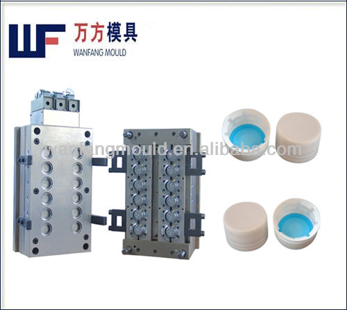 plastic cap mould/12 cavity plastic cap mold/12 cavity bottle cap mould