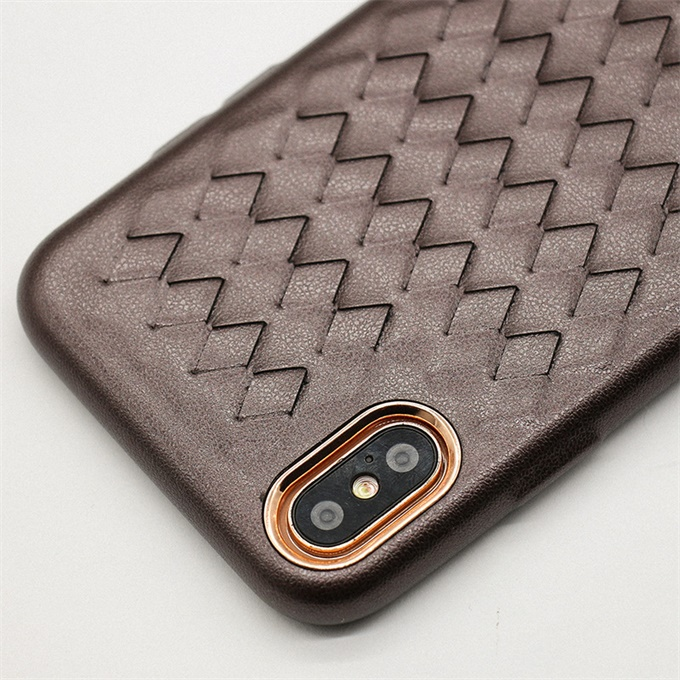 2018 New arrivals woven for iphone 7 plus case, luxury grid cellphone case for iPhone 6 6s 7 8 Plus X
