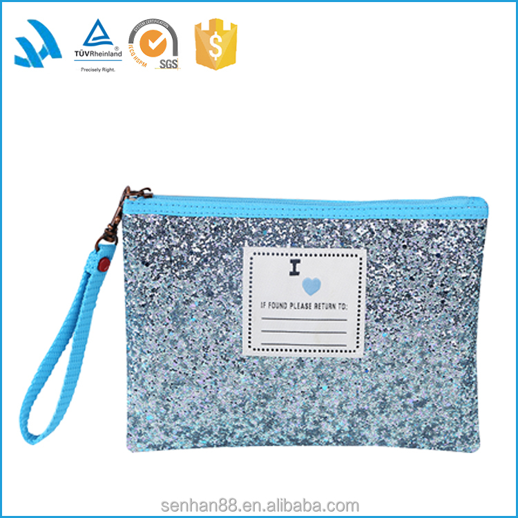 New Hot Sale Fashion Custom Bling Cosmetic Makeup Bag Wholesale