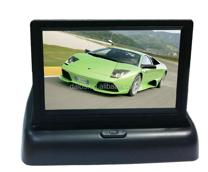 2018 high quality square lcd monitor hdmi TFT LCD monitor rearview camera car monitor 4.3 inch