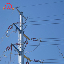 35kv high tension steel utility electrical steel pole 69kv