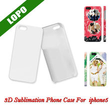 3D sublimation phone cases for iphone 5