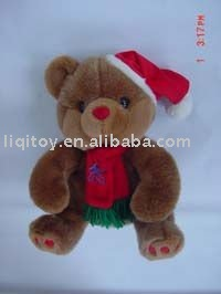 Teddy bear plush toy for Christmas
