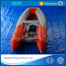 V shape bottom pure manmade glue inflatable dingy boat