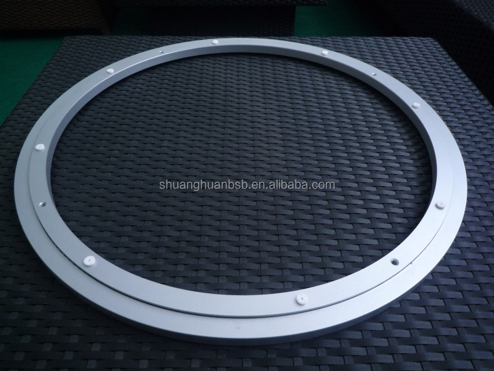 "600mm/24"" low noise Aluminium lazy susan bearing/Aluminium Swivel plate china factory"
