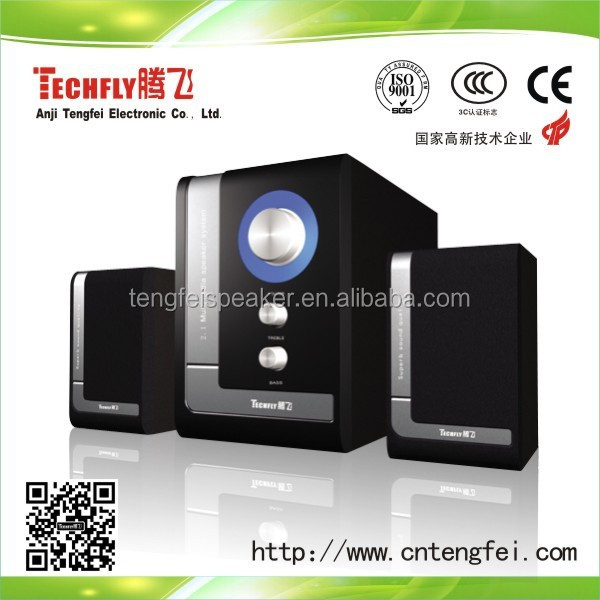 Hot selling!!!2014 High quality Computer speakers 2.1 SR-529,2.1 multimedia speaker with high sound and subwoffer