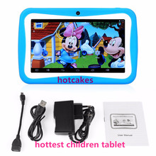 M755E7 factory oem Christmas gift Hot selling lovely colorful cover 7 inch android 5.1 A9 kids tablet for kids without SIM card