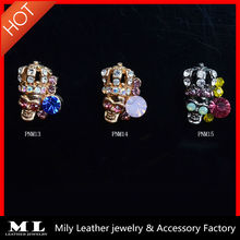 PNM13-21 good accessories for acrylic nails buy online alloy skull design 3d nail art decoration