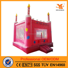 Commercial Inflatable Custom Birthday Cake Bouncy Castle