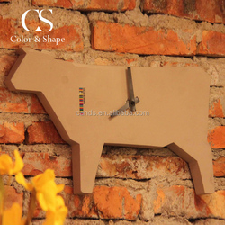 New design durable concrete cow wall clock from China supplier