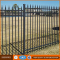 Hot dip galvanized & Powder coated ornamental iron fence