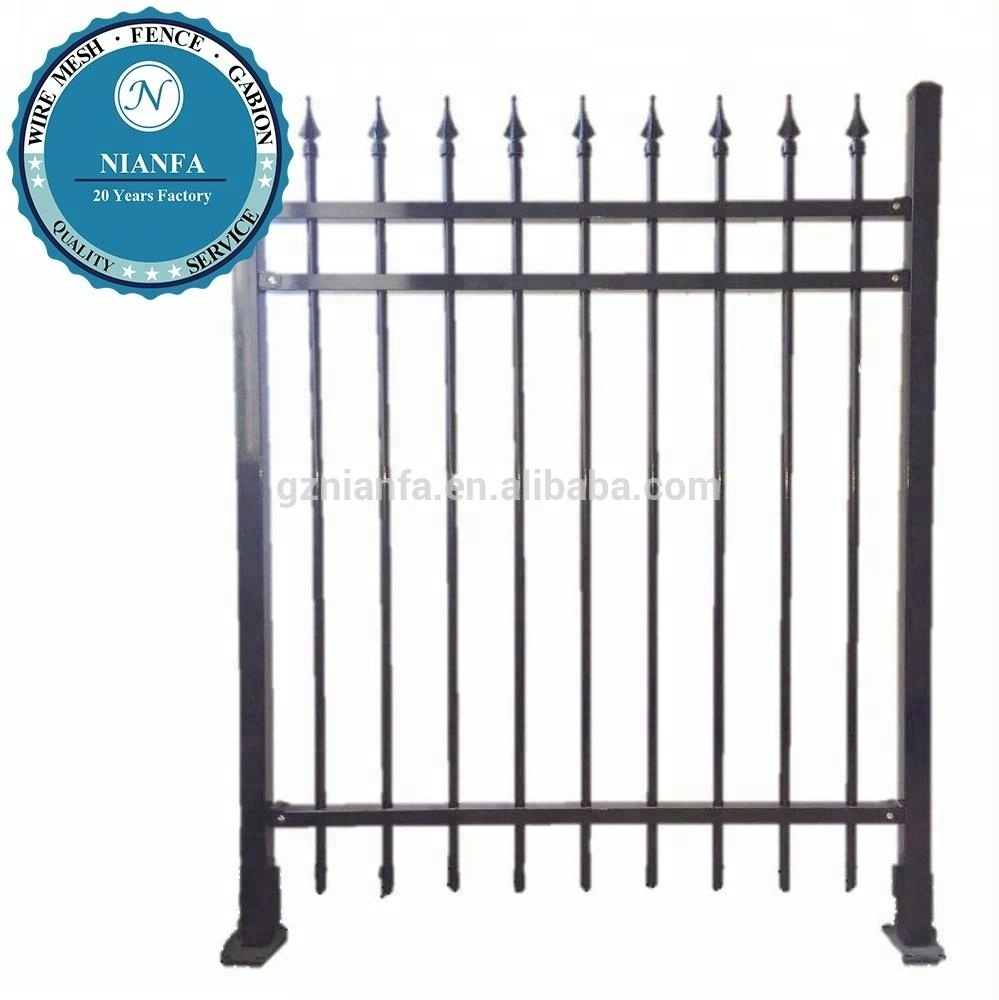 galvanized wrought iron steel fencing (Guangzhou factory )
