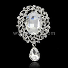 Fashion jewelry wedding brooch pins large bridal crystal rhinestone brooches