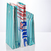 Wholesale cheap recycled paper bags, candy stripe tall paper gift bags with no handle