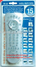 High Quality Silvery URC-22B 15 in 1 Universal remote control with blister package AAA Battery ZF LCD REMOTE FACTORY