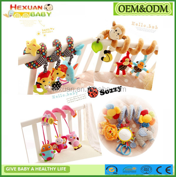 Crib Spiral Toy/Crib Hanging Toys/Plush crib toys set