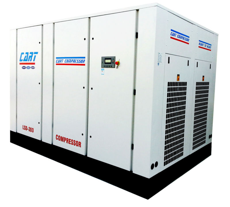 Custom made water cooling direct driven screw air compressor Of New Structure