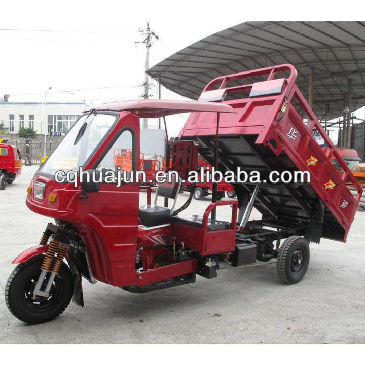 driver cabin three wheeler motor tricycle with hydraulic lifter chongqing gold supplier