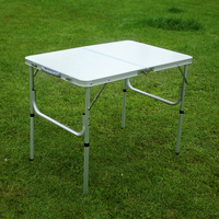 Portable and Adjustable Aluminum Dining Table for Camping Picnic Party