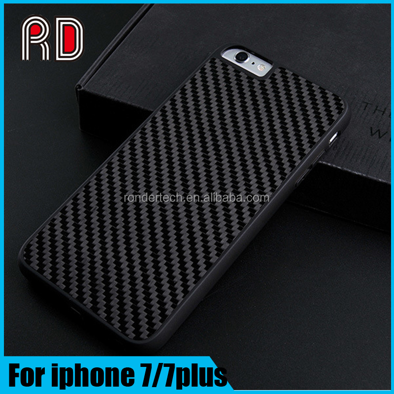 Fashion shockproof tpu+pc+fiber carbon case cover for iphone 7 plus, for iphone 7 carbon fiber shell