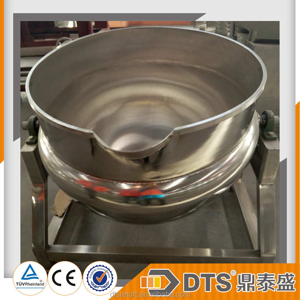 Brand DTS--Industrial Cooking Pots With Mixer/Sugar Cooking Jacketed Kettle/Sugar Boiling Pot