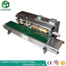 small business plastic continuous bag sealer machine table top sealing machine