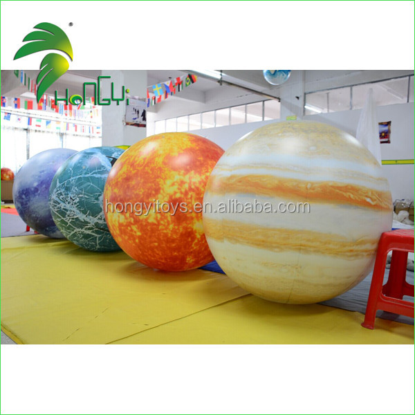 Led lighting Inflatable Hanging Nine Planets / Solar System Balloon with LED Light