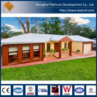 light steel waterproof log cabins prefab house/container homes prefabricated luxury villa
