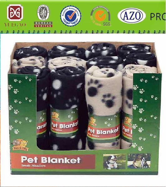 super soft cozy dog footprints design pet blanket S M L