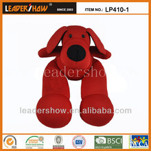 Dog shape home textile sound pillow with nylon fabric