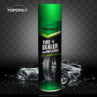 Tire sealer and inflator spray for car