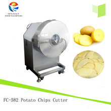 Potato slicer stainless steel automatic vegetable slicing machine electric potato chips cutter