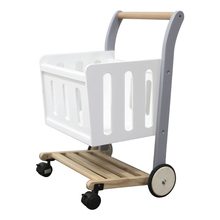 Wooden kids toy Trolley basket furniture