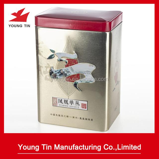 3D embossing metal tinplate tea packaging tin cans