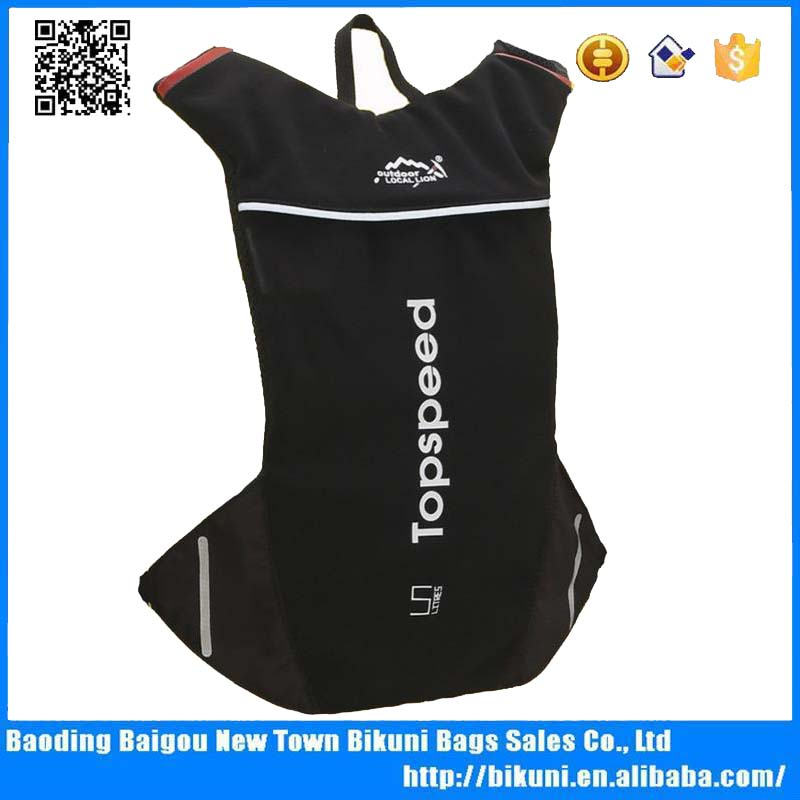 Fashion low price hydration bicycle back black ripstop running backpack with water bladder