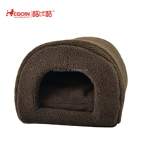 Low MOQ New Design soft brown sherpa fleece cheap dog houses
