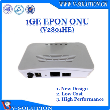 1GE GPON ONT GPON ONU compatible with DASAN/Huawei/ZTE/Fiberhome OLT with CE Certification