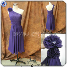 PP2568 Teal Length One Shoulder Purple Chiffon Patterns for Bridesmaid Dresses