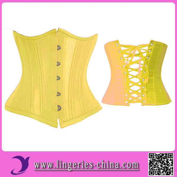 2014 High Quality Sexy Corset Bustier Top Yellow