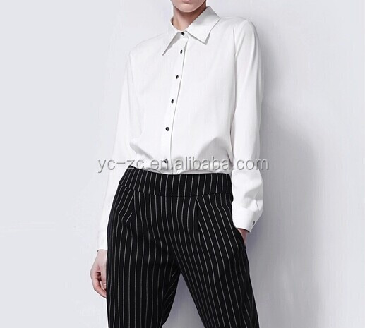 New style ladies long sleeve white shirt blusas woman 2015 korean fashion wholesale