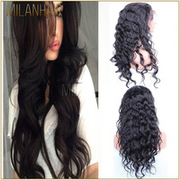 Cheap!!Natural Hair Line Peruvian Hair Thin Skin Silk Top Full Lace Human Hair Wig For Black Women