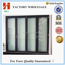 Excellent double glazed insulated soundproof accordion screen door for house using