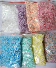 Never Fade Color Polystyrene Styrofoam Craft Foam Beads For Slime in 8 colors