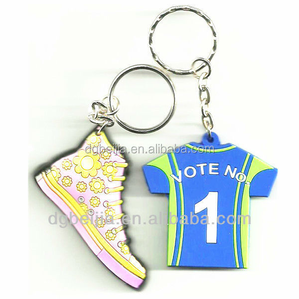 China Promotional Souvenir Gift OEM Custom 3d Soft PVC rubber Keychain Key Chain silicone key chain 3d shoe rubber