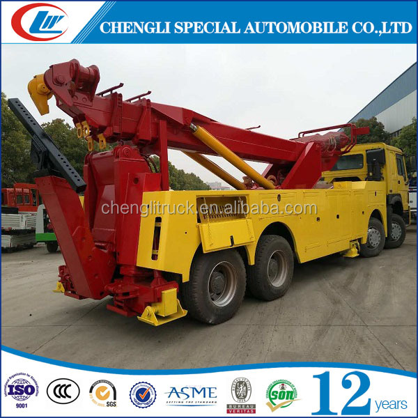 Cheaper HOWO 8*4 rollback wrecker truck towing truck for sale