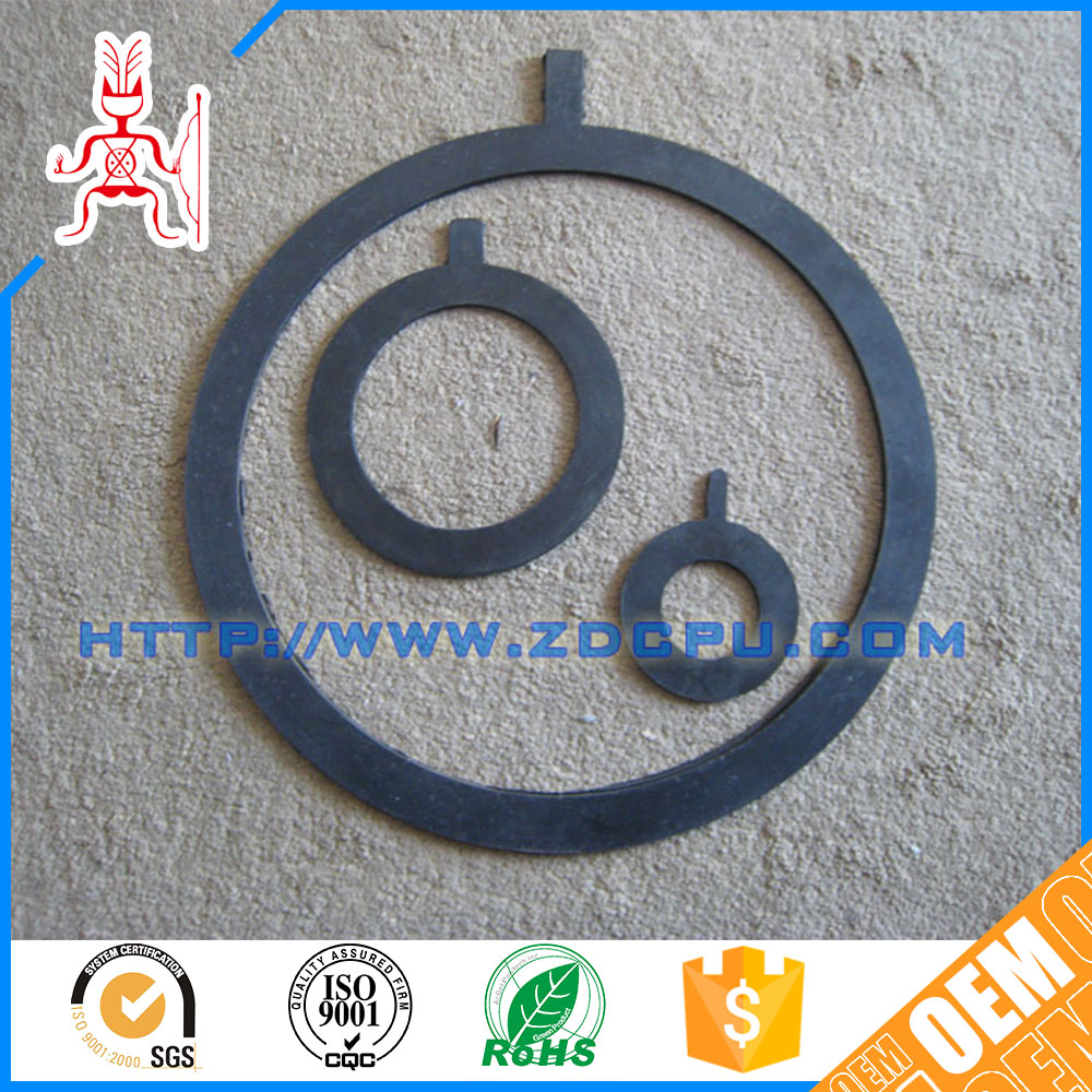 Unique design abrasion customized nbr flat rubber gasket